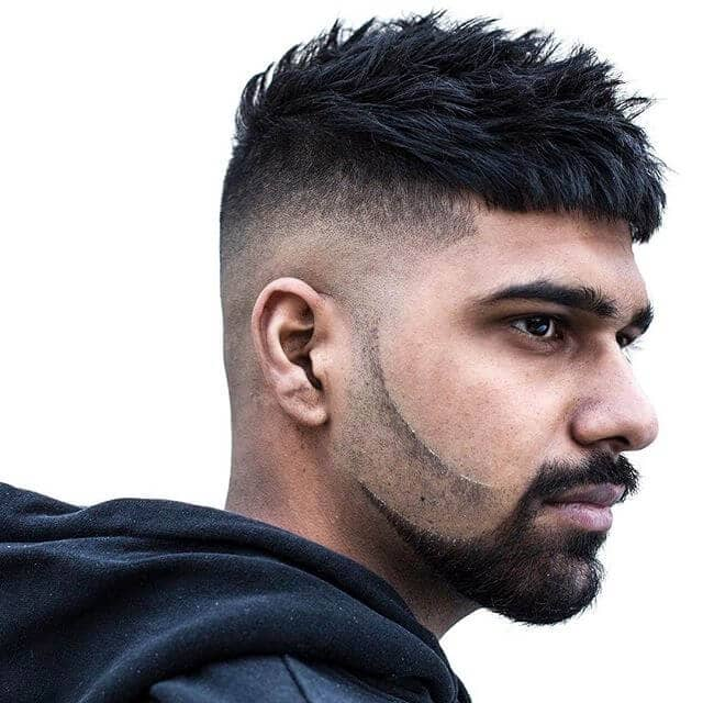 Short Undercut with Connected Facial Hair