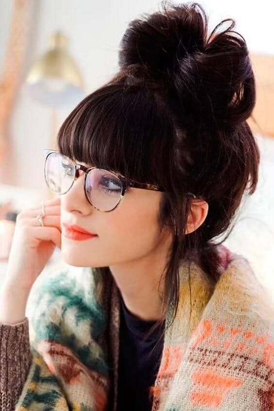 Adorable Women's Haircuts with Straight Bangs