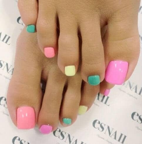 Awesome Sherbet Color Nail Ideas