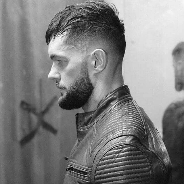 Medium Length Undercut Hair with a Beard