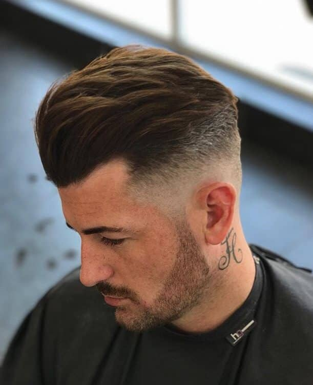 35 Combed Back And Simple Undercut Haircut