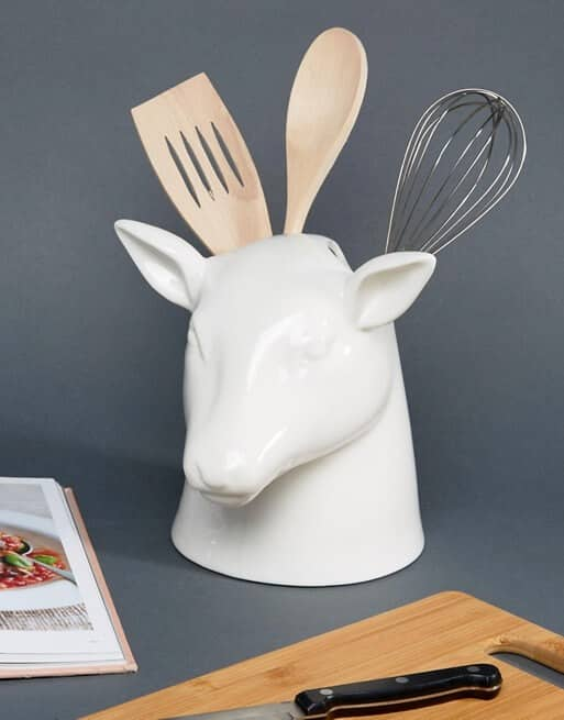 Manly Stag Kitchen Utensil Pot