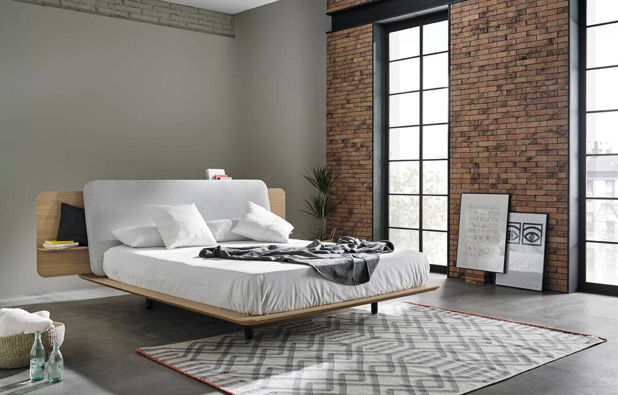 Retro Inspired Thin Wooden Bed Platform