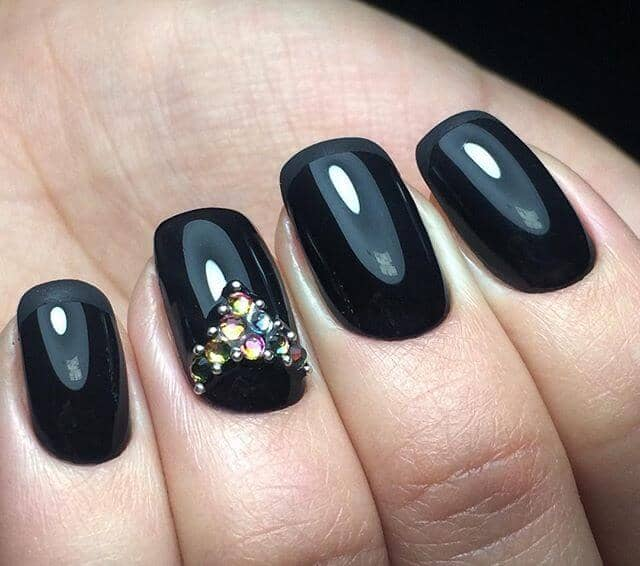 Black Nail Art: 50 Dramatic Black Acrylic Nail Designs To Keep Your Style