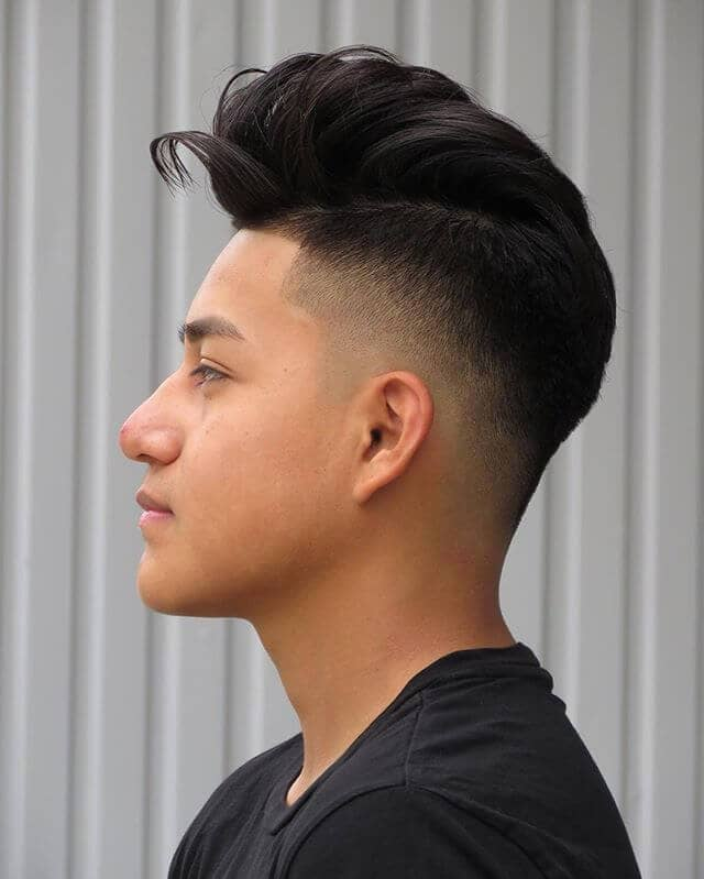 Quaffed Pompadour Undercut for Long Hair