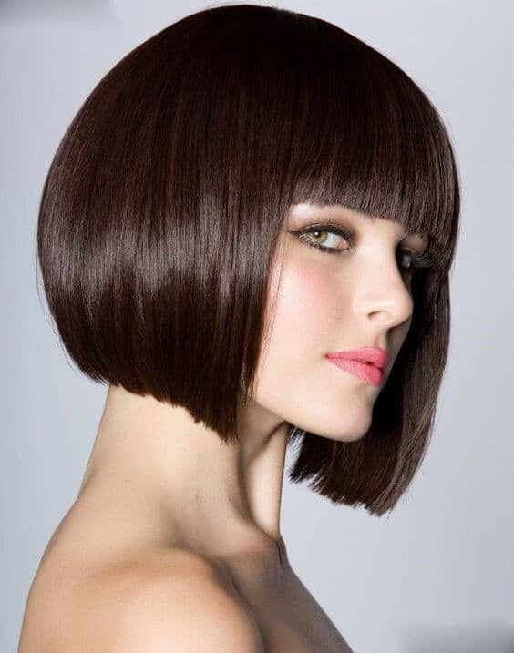 Tapered Bob with Straight Bangs
