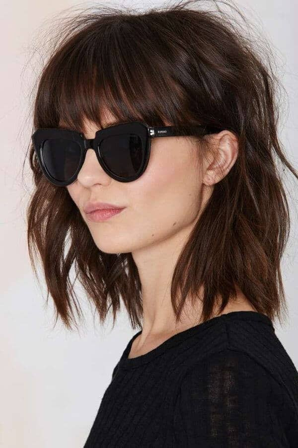 Soft Relaxed Hairstyles with Bangs and Awesome Highlights