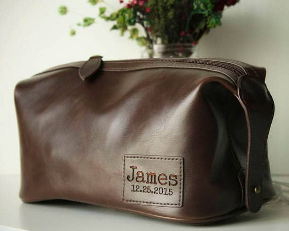 Personalized Premium Leather Toiletry Bag