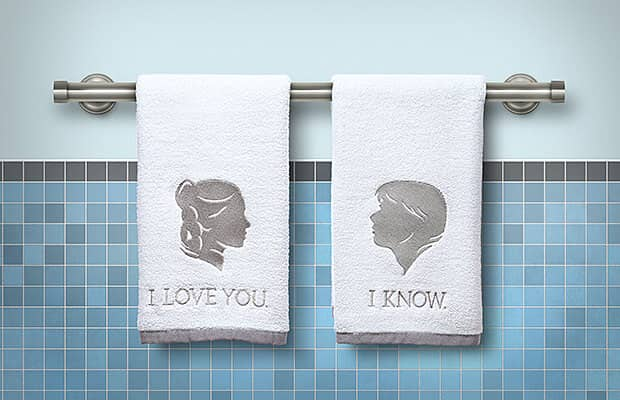 I Love You and I Know Hand Towels