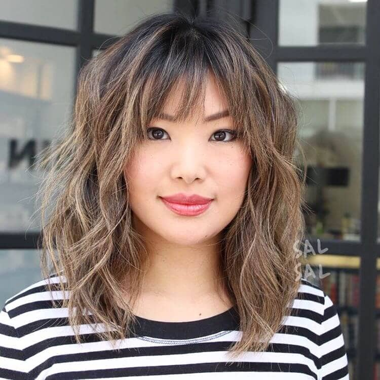 2 Gorgeous Medium Hairstyle With Bangs