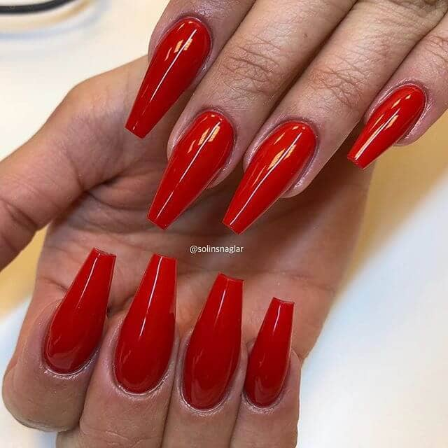 Red Acrylic Nails