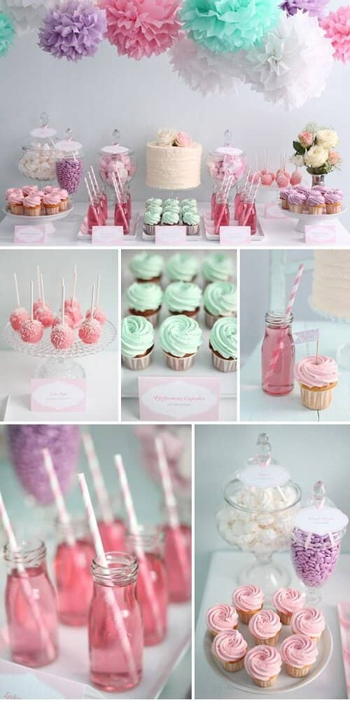 Pretty Pastel Dessert Table Ideas