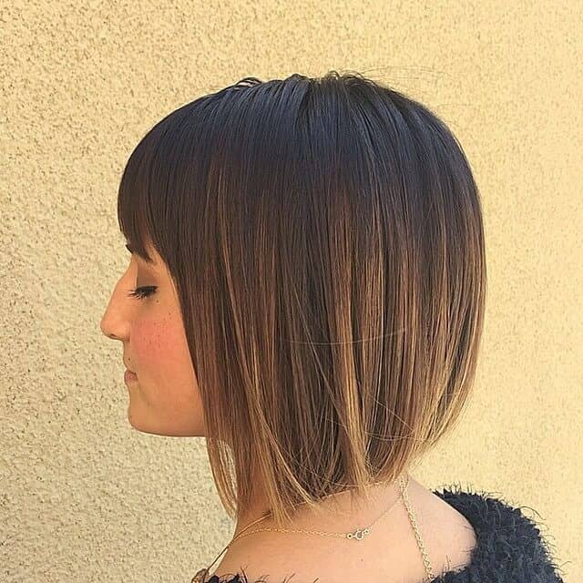 Simple Short Hairstyle With Bangs