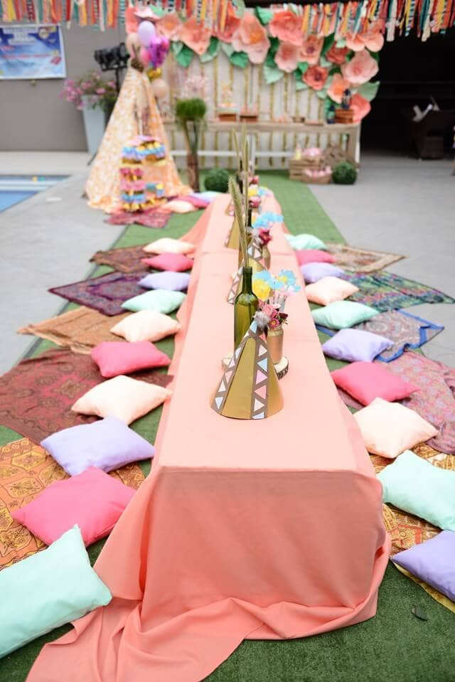 Birthday Party Teepee Tent Décor