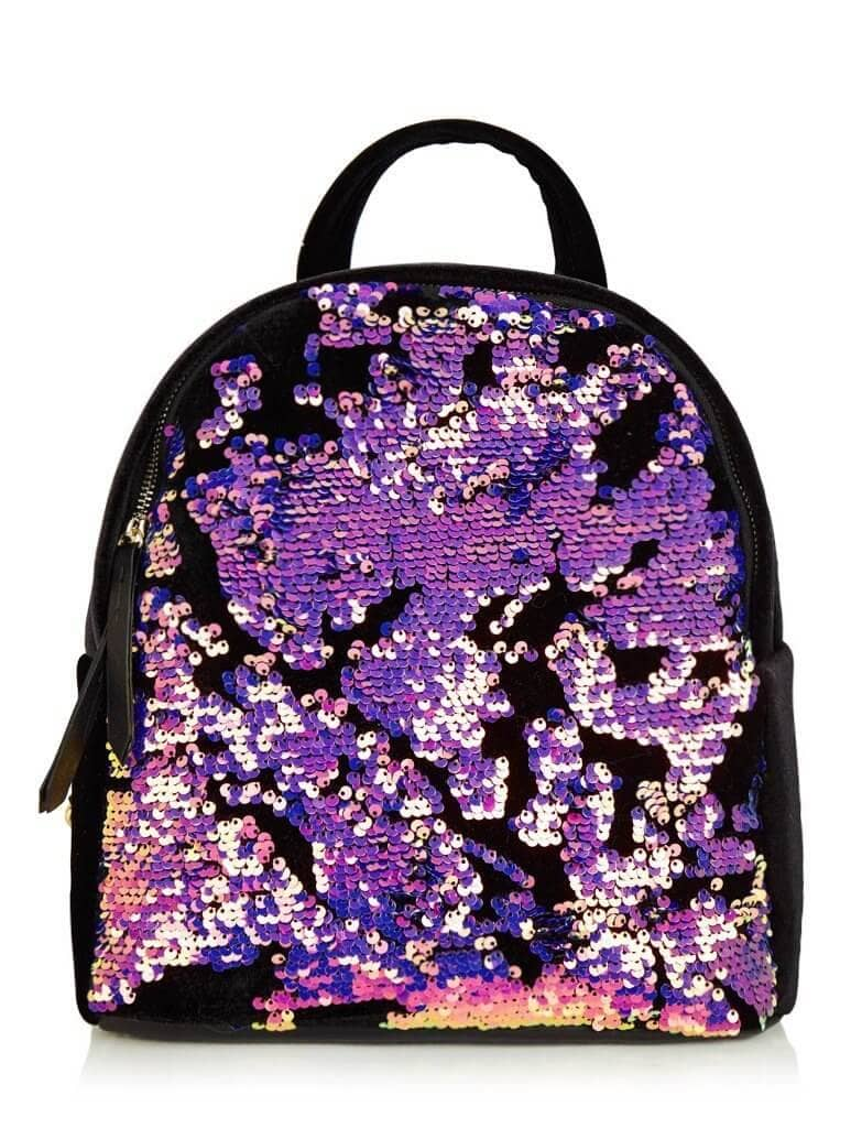 Luxe Sequined and Shiny Backpack