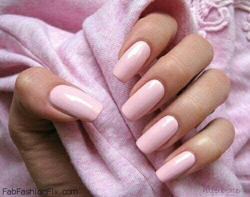 19 Innocent And Classy Mid Length Pink Nails