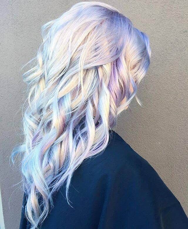 Long and Luscious Purple Ombre Hair