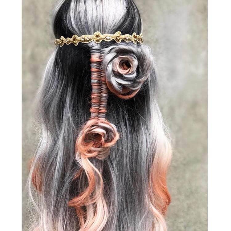 Black and Silver Mermaid Hair