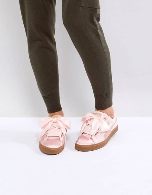 Baby Pink Puma Trainers for Women