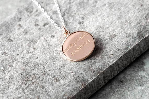 Pendant Necklace with Personalised Charm