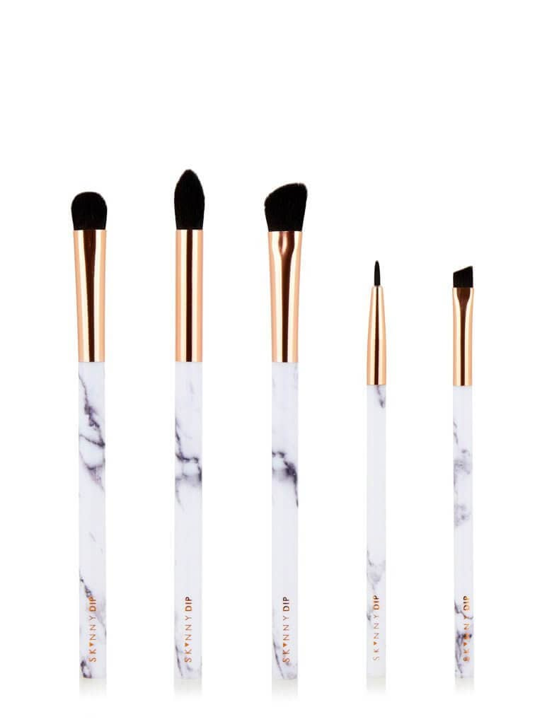 Makeup Lovers Skinnydip Marble Brush Set