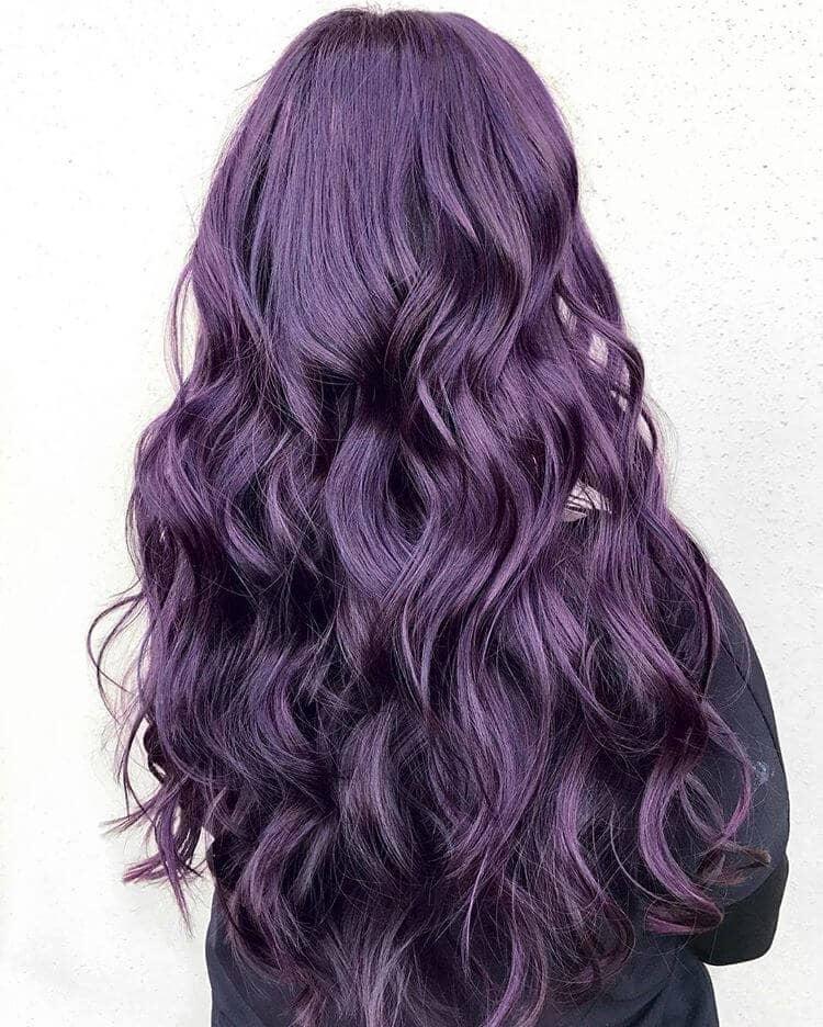 Dark and Dramatic Purple Waves