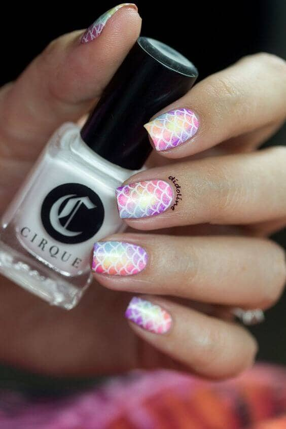 Cotton Candy Unicorn Fairy Nail Art Designs