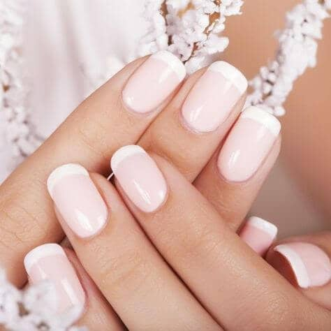 37) Nails in the Palest Pink - 50 Awesome French Tip Nails To Bring Another Dimension To Your Manicure