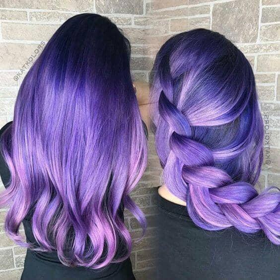 Long, Thick Dark Purple Hair