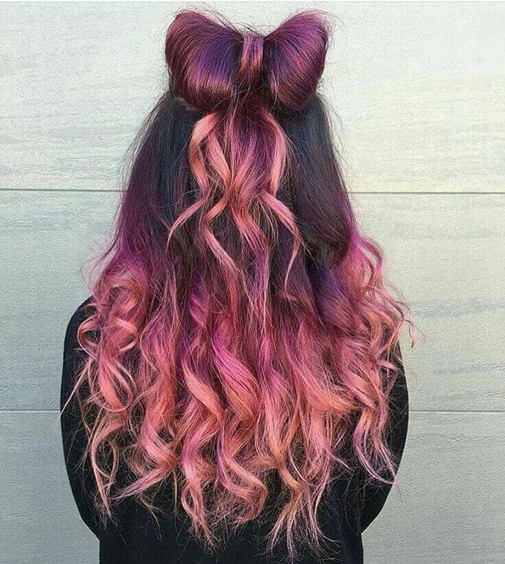 Fun Pink Ombre with Hair Bow