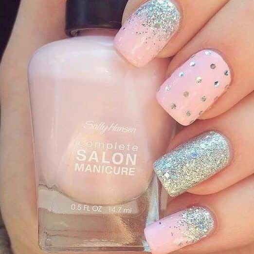 Dance All Night - Light Pink, Glitter, And Polka Dots