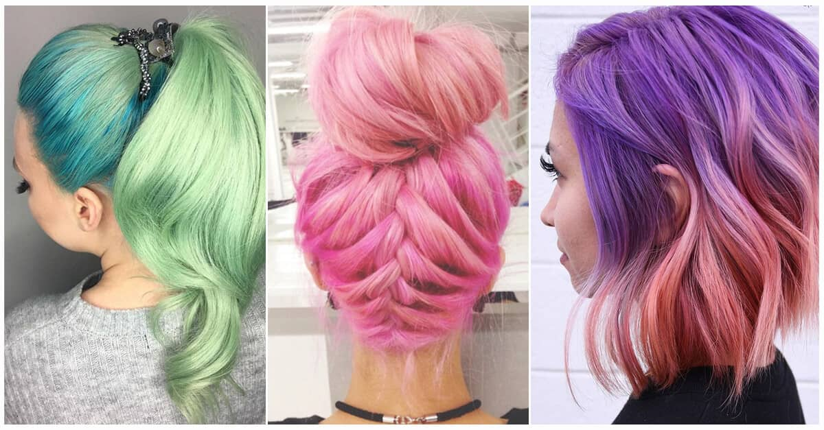 Hair Color In Style: 50 Magical Ways To Style Mermaid Hair For Every Hair Type