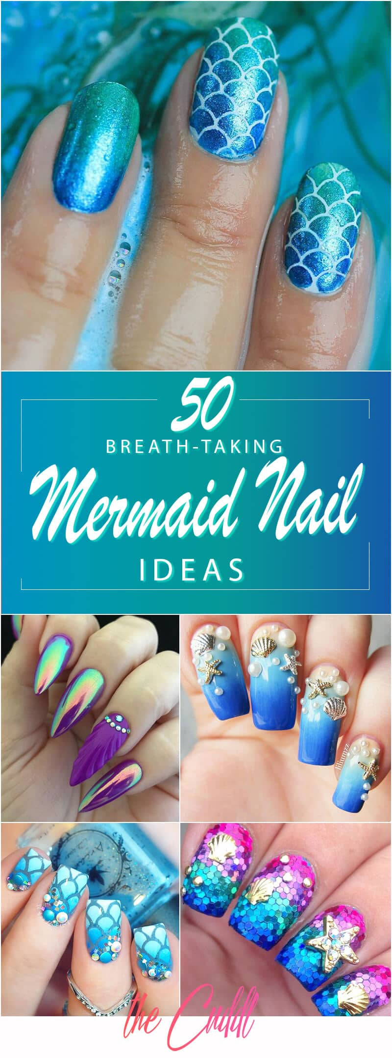 50 Best Mermaid Nail Arts to Express Your Personality