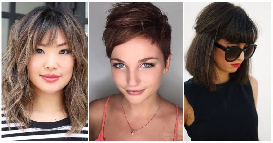 Short Hair With Bangs If You Want A Natural New Medium Cuts From Summer To Fall Why Not Try These Styles