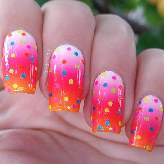 A Blend of Ombre and Polka Dots