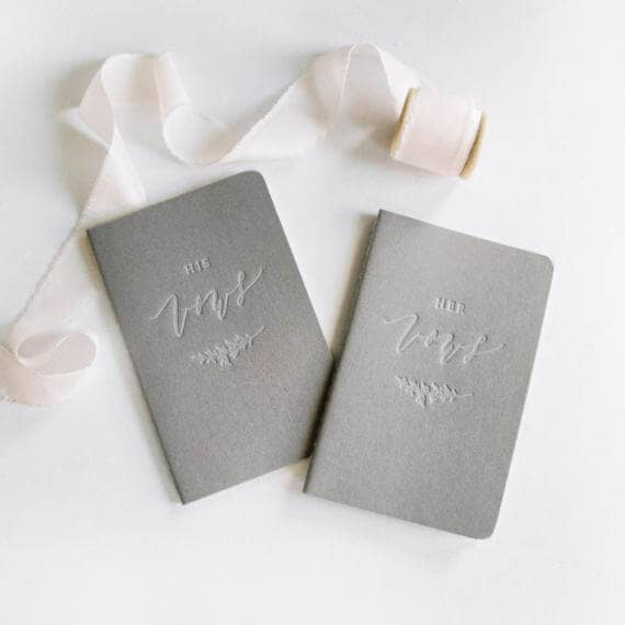 His and Her Vow Journals