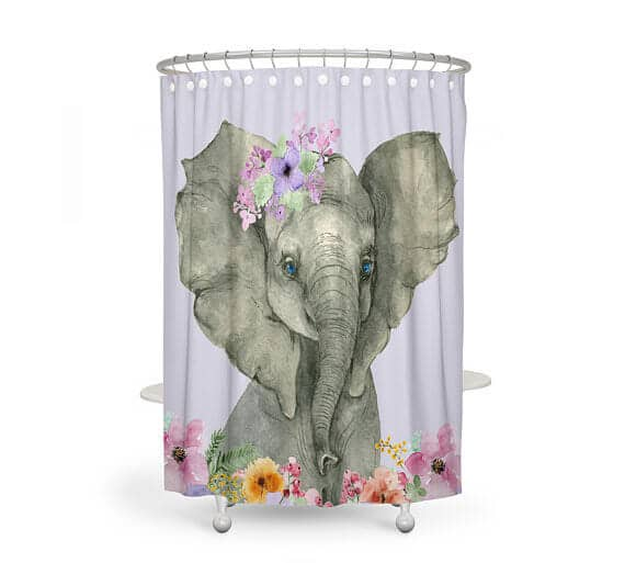Elegant and Cute Shower Curtain for Girls