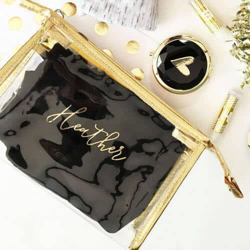 Cute Clear Customizable Cosmetic Bag