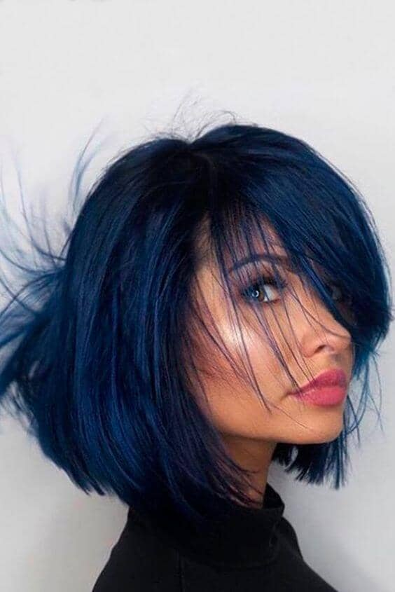 Dark Navy Blue Short Hair