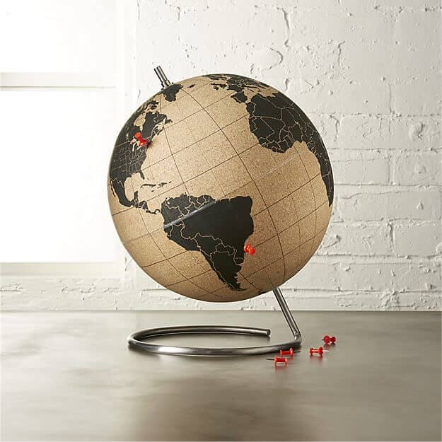 Gold and Black Cork Globe