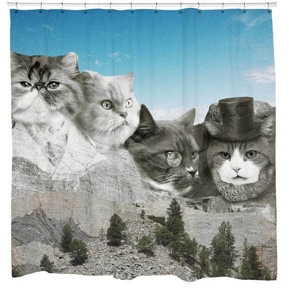 Unusual Shower Curtain for Cat Lovers