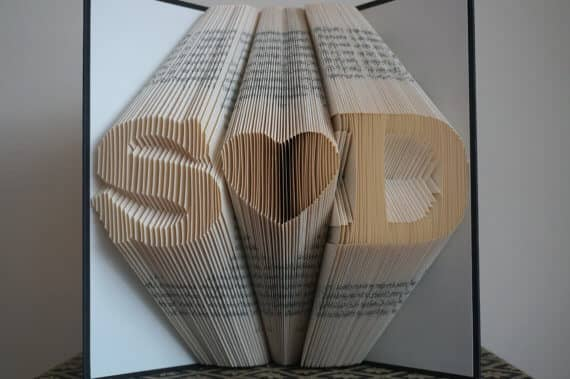Personalized Folded Book Art Engagement Gift