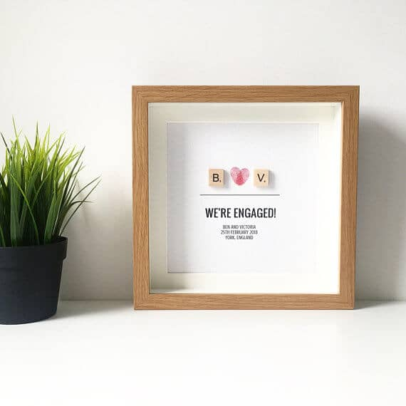 Personalized Scrabble Engagement Photo