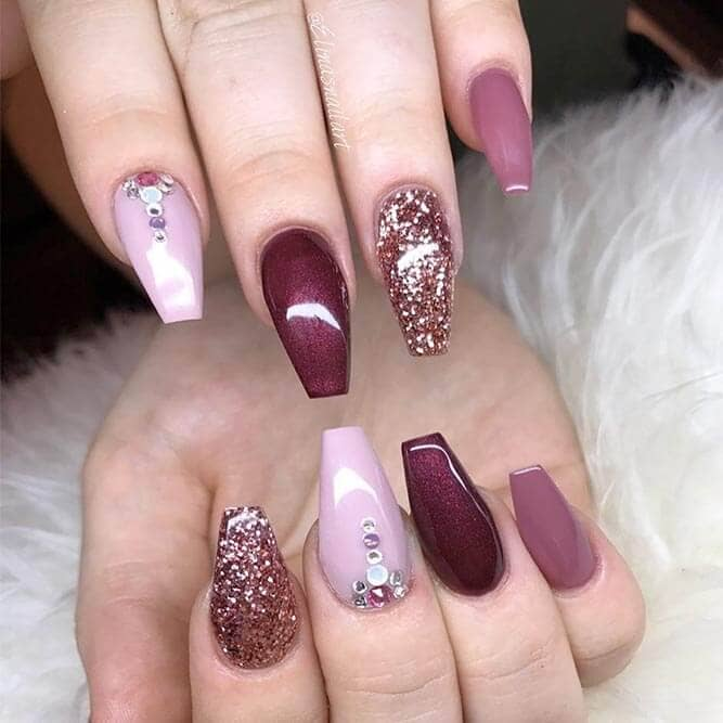 Elegant Luxe Pink Glitter And Diamonds