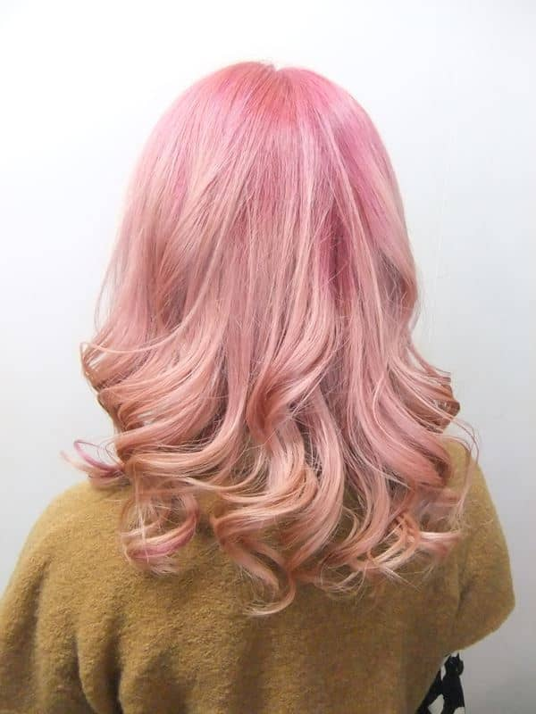 Reverse Ombre Pink Blonde Hair