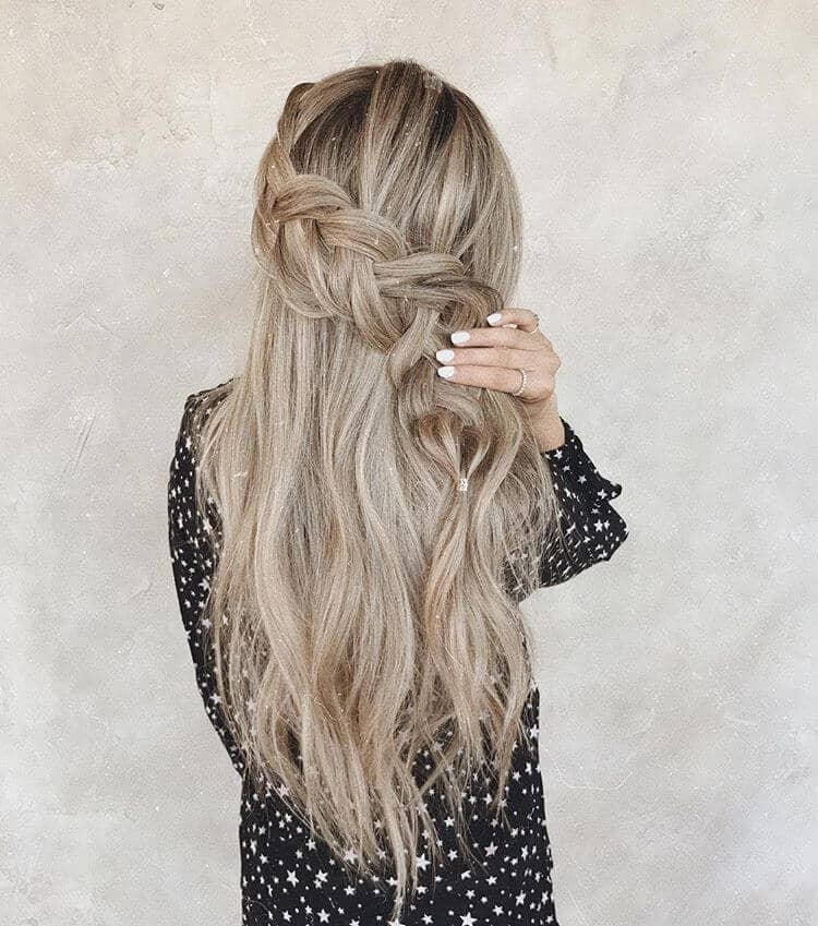 Romantic Loose Braid for Long Hair