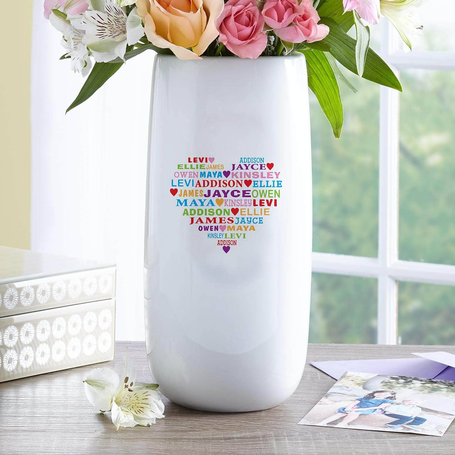 Personalized Vase with Everything She Loves