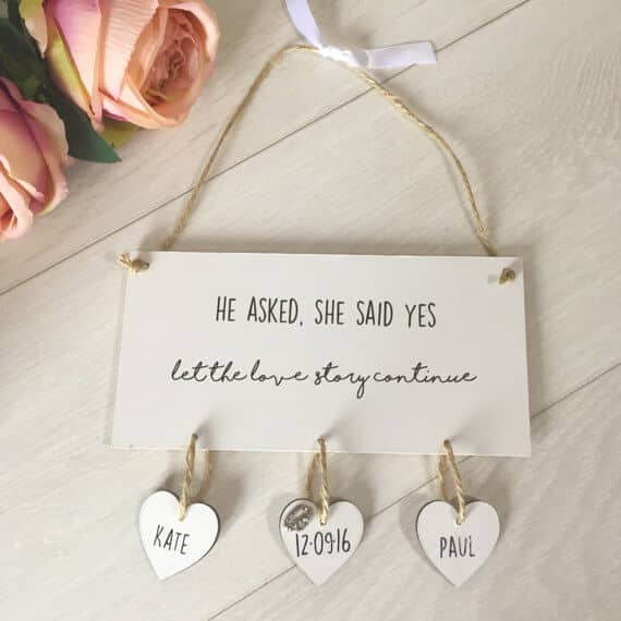 Personalized Engagement plaque
