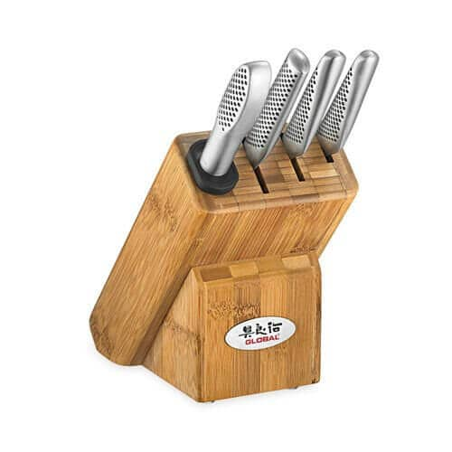 Global Knife Block Silver Set