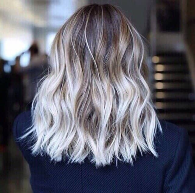 Dark to Platinum Ombre Waves